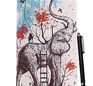 un caso colorato piedi modello elefante e una penna stilo tocco per ipad mini 3, ipad mini 2, ipad mini