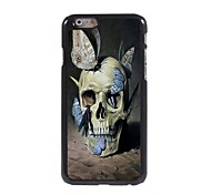 Skull and Butterfly Design  Aluminum Case for iPhone 6