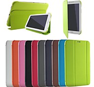 Business Original Flip Folding Stand PU Leather Case BOOK Cover for Samsung GALAXY Tab 3 Lite T110 T111