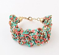 Bohemian Style Beads Bracelets (1 pc, Black / Multicolors)
