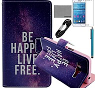 COCO FUN® Free Life Pattern PU Leather Case with Film and Stylus for Samsung GALAXY Grand Prime G530