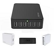 ich-03 caricabatterie intelligente 6 porte USB del desktop rapida universale per ipad / ipone / samsung e altri