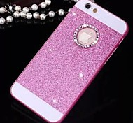Solid Luxury Bling Glitter Cover Case with Back Hole for iPhone 4/4S(Assorted Colors)