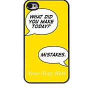 Personalized Phone Case - Make Mistake Design Metal Case for iPhone 4/4S