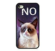 The Cat Letters Leather Vein Pattern Hard Case for iPhone 4/4S