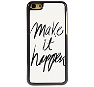 Make it happen Design Aluminum Case for iPhone 5C