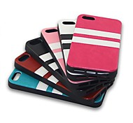 Striped Paste Paper TPU Back Cover for iPhone 5S (Assorted Colors)