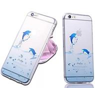 modello delfino sottile di caso TPU per iPhone 6