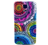 For Samsung Galaxy Case Pattern Case Back Cover Case Flower TPU Samsung S5 Mini