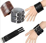 3 de largura pulseira de couro pulseira de couro (2 cores)