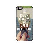Ruhe bewahren und das Leben ist schönes Design Aluminiumkasten für iphone 5/5 s