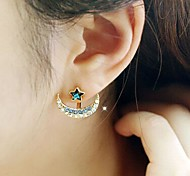 Moon Star Pentagram Earrings