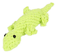 Gecko Shape Rope Textile Chew Toys For Dog