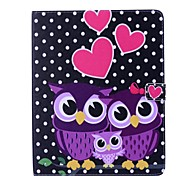 Owl Pattern PU Wallet Leather Case with Stand for iPad 2/3/4