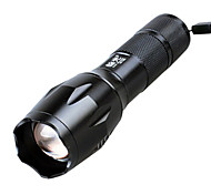 HanGuang T6-2 Rechargeable 5-Mode 1x Cree T6 Zoom LED Flashlight(240-350LM, 1x18650, Black)