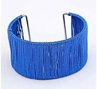 European Style Metal Wire Open Bracelets (1 pc, Blue / Yellow)