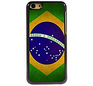 Brazilian Flag Design Aluminum Hard Case for iPhone 5C