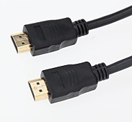 1.8M 5.904FT HDMI Male to Male HDMI Good Quality Video Audio Display Converter Cable - Black