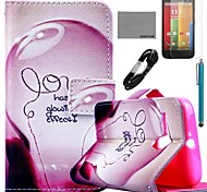 COCO FUN® Owl Baby Pattern PU Leather Full Body Case with Film and USB Cable and Stylus for Motorala Moto G