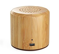 MS-0345 Indoor/Outdoor Mini Porbatle Bamboo Bluetooth Speaker with Rechargeable Battery
