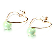 Earring Heart Drop Earrings Jewelry Party / Daily / Casual Alloy Gold