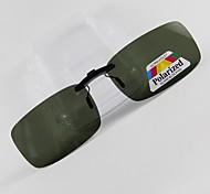 Rectangle Polarized Clip-on Sunglasses Lenses H02