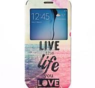 Samsung Handy - Samsung Samsung Galaxy S6 - Hüllen (Full Body) - Grafik/Spezielles Design/Namenmarken ( Multi-color , Plastik/PU Leder )