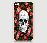 Roses Skulls Pattern Back Case for iPhone4/4S