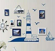 Blue Sailboat Gull Wall Stickers