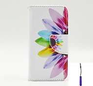 Beautiful Petals Pattern PU Leather Case Cover with A Touch Pen ,Stand and Card Holder for LG L90
