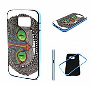 Big Face Cat Pattern TPU Back Cover with PC Bumper Shockproof Soft Case for Samsung Galaxy S6