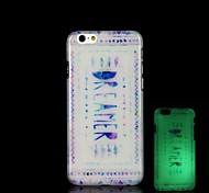 Dreamer Pattern Glow in the Dark Hard Case for iPhone 6