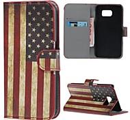 Teléfono Móvil Samsung - Carcasas de Cuerpo Completo - Gráfico/Bandera Nacional - para Samsung Samsung Galaxy S6 ( Multi-color , Cuero PU )