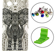 Elephant Carpet Pattern TPU Soft Case with Anti-dust Plug and Stand for Sony Xperia Z3 Compact / Z3 mini