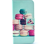 Cute Macaron Pattern PU Leather Cases for iPhone 6 Plus