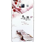 Fashion Painted Holding Hands PC Hard Case for Samsung Galaxy A3
