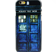 Blue Police Box Door Pattern Hard Case for iPhone 6