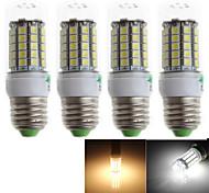 6W E26/E27 LED a pannocchia T 59 SMD 5050 500 lm Bianco caldo / Luce fredda Decorativo AC 220-240 V 4 pezzi