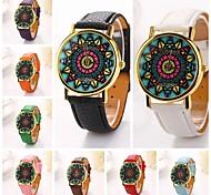 Women Indian leopard  Pu Leather Diamond Brand Luxury Lady Bracket Dress Wristwatch C&D-191