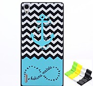 Anchors Pattern PC Hard Case and Phone Holder for Huawei P7