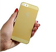 Para Capinha iPhone 5 Ultra-Fina / Transparente Capinha Capa Traseira Capinha Cor Única Macia TPU iPhone SE/5s/5