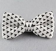 Gravata Borboleta (de Roupa de Malha , Branco) - Vintage/Pesta/Trabalho/Casual