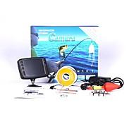 8 IR LED hd 800tvl 3.5 '' cor do monitor lcd sistema de câmera subaquática de pesca vídeo cabo 15m peixe visuais localizador