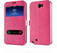Teléfono Móvil Samsung - Carcasas de Cuerpo Completo - Gráfico - para Samsung Note 2 N7100 ( Negro/Rosa/Dorado , Cuero PU )