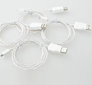 привело кабель привело свет Micro USB v8 кабель для передачи данных кабель зарядного устройства для Samsung s3 s4 HTC Nokia mp3, mp4 (1м 3 фута)