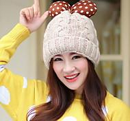Women Cute Winter Cotton Bow Hat