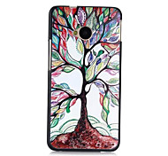multicolor tree leaf pattern pc caso posteriore duro per htc M7