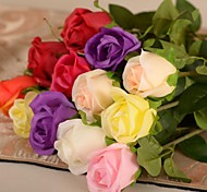 "24""L Set of 1 Romantic Roses Silk Cloth Flowers"