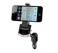 Bluetooth Handsfree Car Kit To Cigarette Lighter, Bluetooth 4.0/FM Transmitter/Car Charger/Mobile Phone Holder
