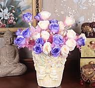 alta qualidade 10 cabeças neve rosa branca flores simulação